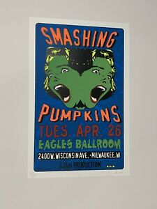 Smashing Pumpkins Original Rock Concert Poster signed and numbered by TAZ