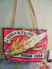 ROLFS COLORFUL CANVAS SHOPPER / TOTE PURSE OLNEY & FLOYD SUGAR CORN ART