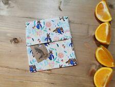 🦊Eco homemade reusable sandwich bag, Peter rabbit, adult, childrens, lunch box