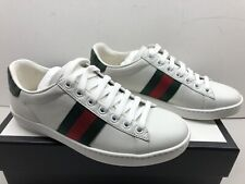 Women's Gucci Ace White Leather Sneakers  Size 5 ***NEW*** Style 387993 A3830