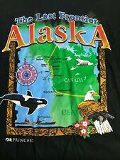 VTG 90's Alaska The Last Frontier Men's Short Sleeve Large T-Shirt NWT
