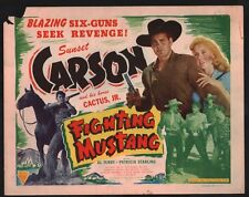 FIGHTING MUSTANG Lobby Card (Good) 1948 Al Terry Western Movie Poster 15089