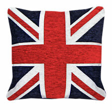 "Union Jack Cushion Cover British Flag 18""x18"" Quaity Chenille Fabric FREE P&P !!"