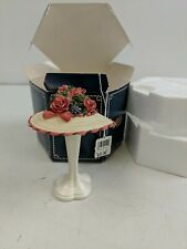 Willow Hall Porcelain Floral Fantasy Hat With Stand Miniature