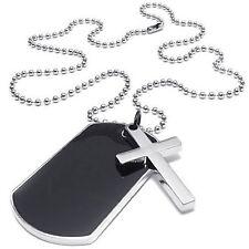 Herren Damen Halskette, Militaerischen Kreuz Erkennungsmarken Armee Stil GY T7C1