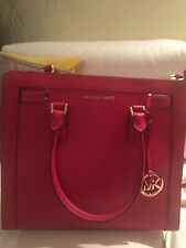 Authentic Micheal Kors Red Leather Tote Bag