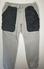 No Country Pant Joggers Sz XXL 2XL Faux Leather Pockets Accent Gray Mens
