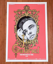 JUAN GABRIEL silkscreen tour poster of his last U.S. tour in 2016.
