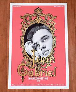 JUAN GABRIEL silkscreen tour poster of his last U.S. tour in 2016.
