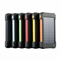 12000 mAh Dual USB Portable Solar Battery Charger Power Bank Flashlight Compass