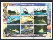 Bateaux Guinée (97) série complète de 9 timbres oblitérés