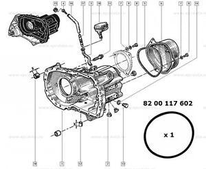 Renault Megane Scenic Laguna Clio gearbox top casing O ring 8200117602