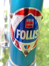 Old bike FOLLIS 1974 Pantographié assez RARE, DURA-ACE STRONGLIGHT REYNOLDS 531