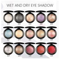 Fashion Single Baked Eye Shadow Powder Palette Shimmer Metallic Eyeshadow Palett