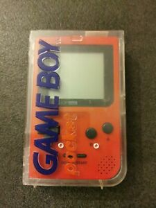 Console Game Boy Pocket Rouge avec boîte Transparente