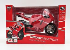 Maisto Ducati 31177 Nicky Haden 1:10 Scale Model Motorcycle Brand New In The Box