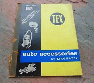 Classic TEX Magnatex Auto Accessories List Catalogue 1965  Mirrors Wipers Lights