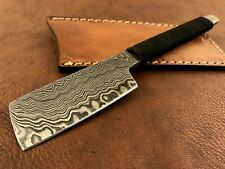 Handmade Pattern Welded Damascus Steel Straight Razor-kamisori-Cut Throat-xd3