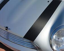 Mini Cooper Carbon Fibre effect bonnet stripes Genuine easy fit vinyl decals