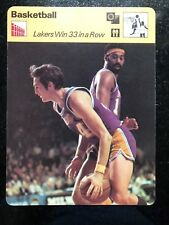 JERRY WEST WILT CHAMBERLAIN 1977 Sportscaster Card #13-10 LOS ANGELES LAKERS