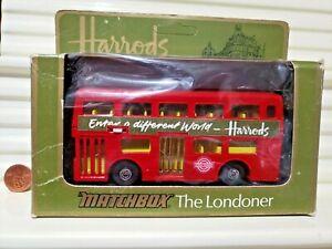 Lesney MATCHBOX 1976 1/43 King Size K15B HARRODS ENTER WORLD Bus THE LONDONER