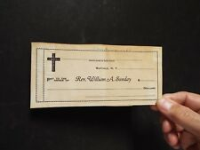 1927 Blank Check - Billy Sunday Imprint