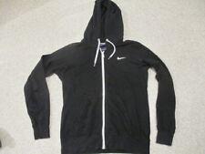 Nike black zipped thin hoodie top adult size