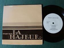 """GROUPE VOCAL LA MAJEUR inc Québec 7"""" mini 33T 1978 GATEFOLD CCL 33-109 Vigneault"""
