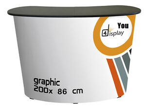 Portable POP UP Exhibition Promotion Display Counter Table with Carry bag
