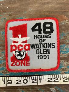 VINTAGE 1991 PCA AT WATKINS GLEN RACING PATCH PORSCHE CLUB OF AMERICA SCCA RACE