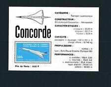 Cameroun  bloc   avion  concorde  1976  num: BF 9  **