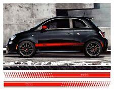 COPPIA FIAT 500 righe laterali vinile decalcomania grafica dettaglio sidestripes colore a scelta