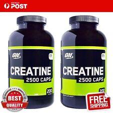 Optimum Nutrition Creatine 2500 Caps 200 Caps x 2 bottles