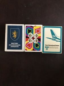 Playing Card Sets. Airline Brands