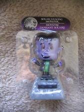 """Dancing Purple Green Frankenstein Monster Solar 4.5"""" Plastic Halloween Figure"""