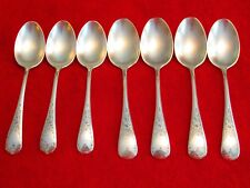 7 Birks Regency Plate Queen Mary Silver Plate Spoons, 5 1/4, 5 1/2 Inch