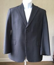 BROOKS BROTHERS 346 Charcoal w/white pinstripe STRETCH suit 41S 34S