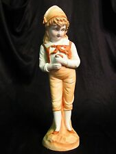"""Unmarked 11.5"""" Vintage Continental Porcelain Bisque Figurine 2521 early 1900's"""