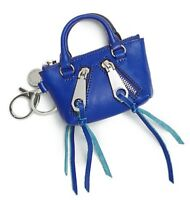 Rebecca Minkoff Moto Satchel Key Fob Bag Charm Coin Purse Leather ~NWT~