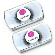 New Sale 2 x 100% Mink Hair Short Cross False Eyelashes Fashion Lady Eye Lashes