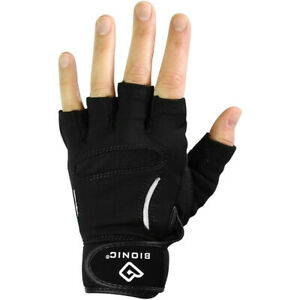 Bionic Men's Relief Grip Fitness Fingerless Gloves - XL - Black