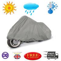 Motorcycle Bike Outdoor Weather Resistant Cover In Grey 130cm x 230cm