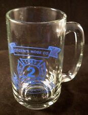 VTG Dunkirk NY Fire Department Citizen's Hose Co. Glass Beer Mug Cup Stein 1985