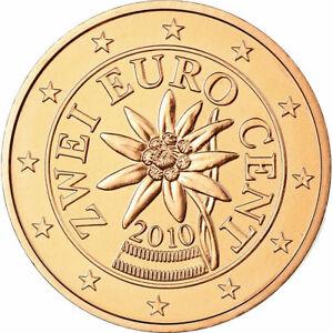 [#699030] Autriche, 2 Euro Cent, 2010, FDC, Copper Plated Steel, KM:3083