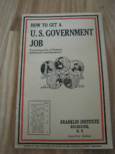 How to Get A Government Job Booklet 1908
