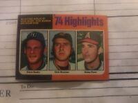 1975 Topps Mini Nolan Ryan & Steve Busby '74 HIGHLIGHTS #7