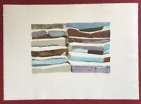 Silke Leverkühne, Steinstufen, Farblithographie, 1995, handsigniert und datiert