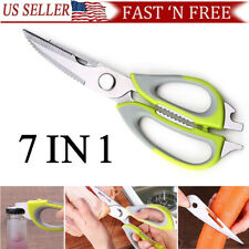 Multifunction Kitchen  Cutter knife Shears Scissors Heavy Duty 8 Features USA