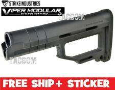 Strike Industries Viper Modular Fixed Stock BLACK Adjustable Shims Customizable