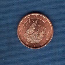 Espagne - 2007 - 2 centimes d'euro - Pièce neuve de rouleau -